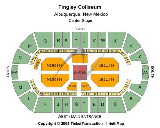 Tingley Coliseum Floor Plan