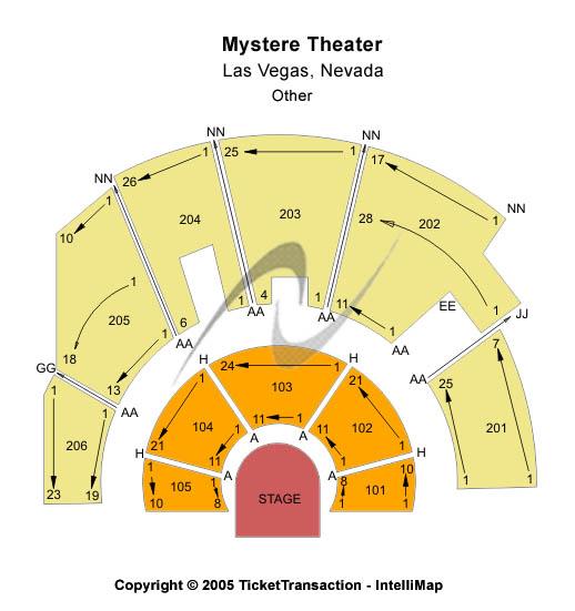 Treasure Island - Las Vegas Seating Chart