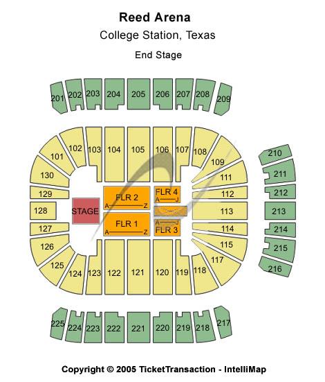 Reed Arena Floor Plan