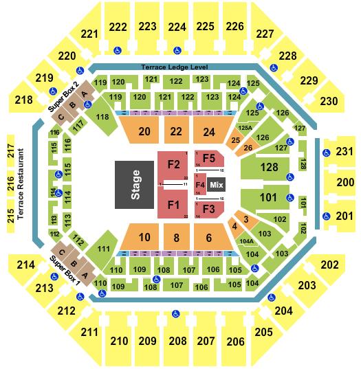 AT&T Center Floor Plan