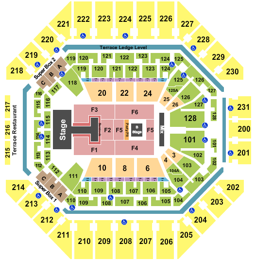 AT&T Center seating chart event tickets center