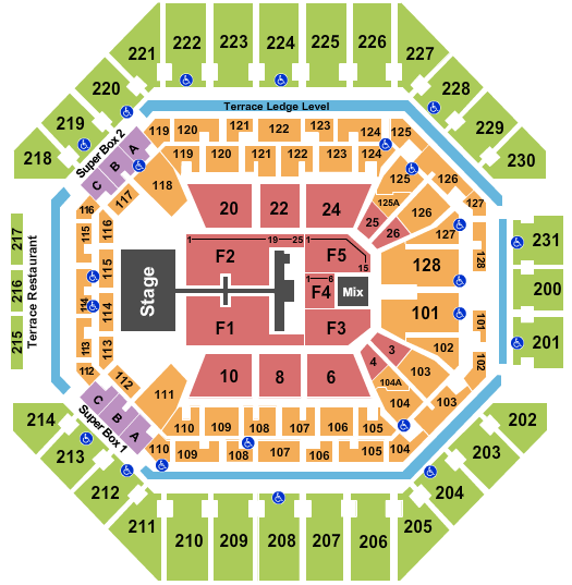 AT&T Center Floor Plan