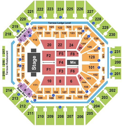 AT&T Center Trans Siberian Orchestra seating chart - eventticketscenter.com