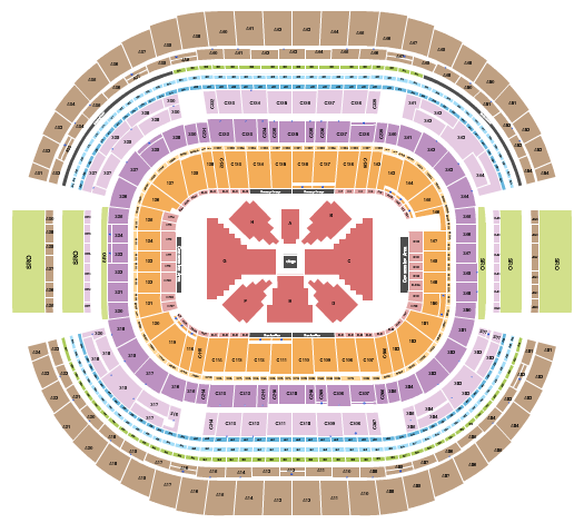 seating chart for AT&T Stadium Boxing2 - eventticketscenter.com