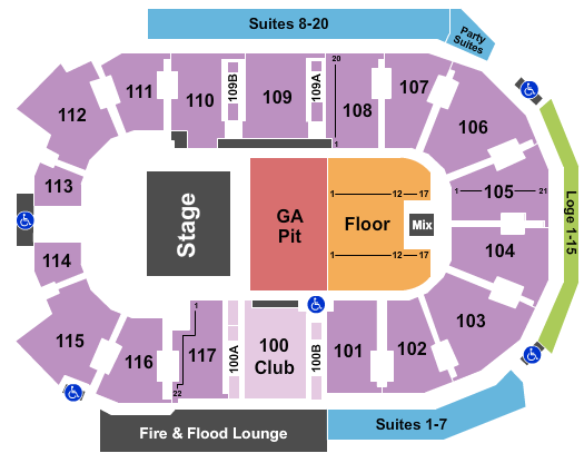 Abbotsford Centre seating chart event tickets center