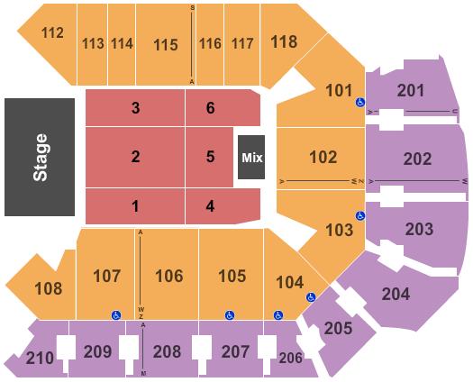 Addition Financial Arena Floor Plan
