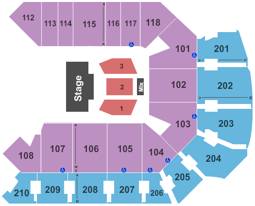 Addition Financial Arena Seating Chart Plan