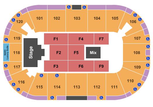 Agganis Arena Floor Plan