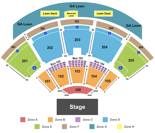 seating chart for Ak-Chin Pavilion Endstage Int Zone - eventticketscenter.com