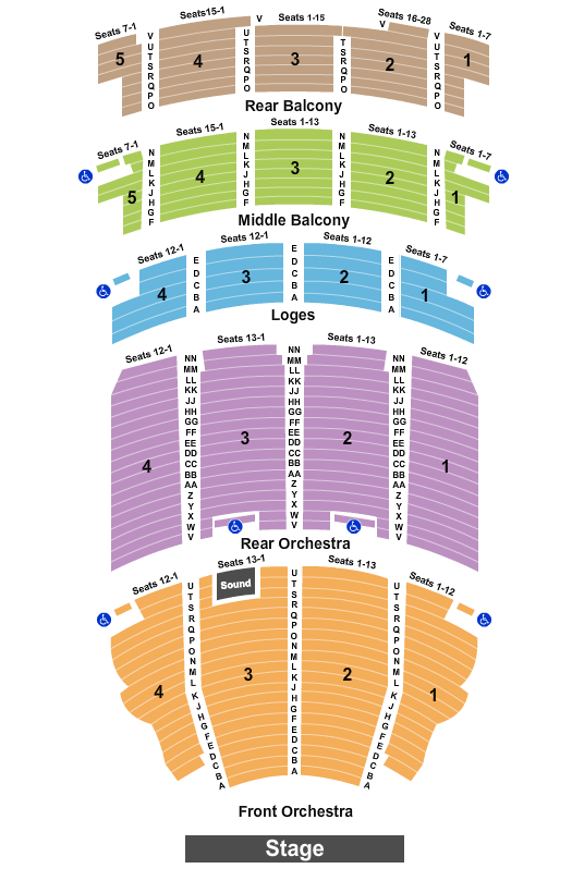 Akron Civic Theatre seating chart event tickets center