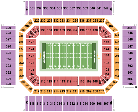 seating chart for Alamodome Football - eventticketscenter.com