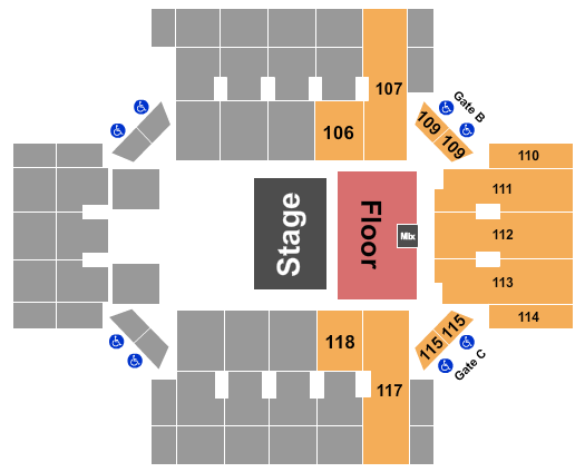 Albany Civic Center seating chart event tickets center