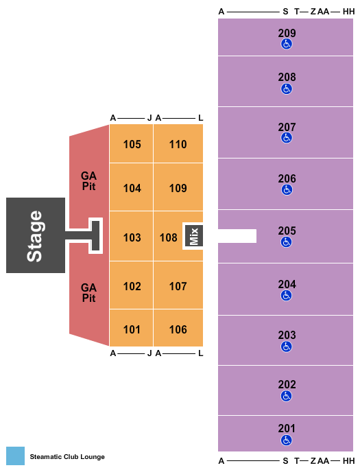 Alerus Center Seating Chart
