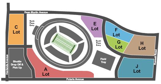 Allegiant Stadium Parking Lots Floor Plan
