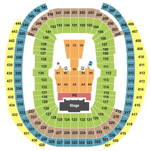 Allegiant Stadium seating chart event tickets center
