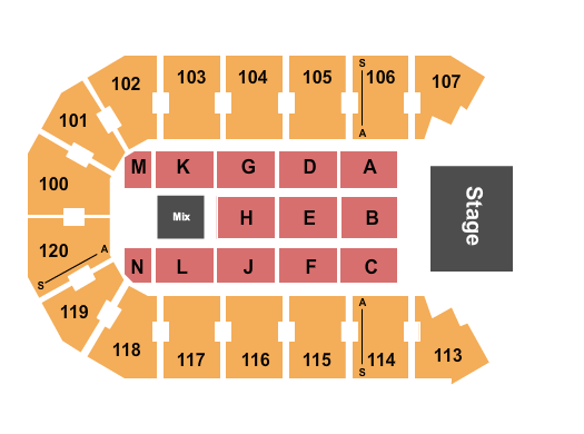 TobyMac Allen Event Center Seating Chart