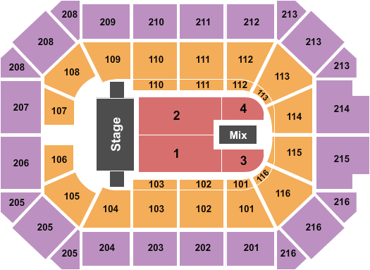 Trans-Siberian Orchestra Allstate Arena Seating Chart