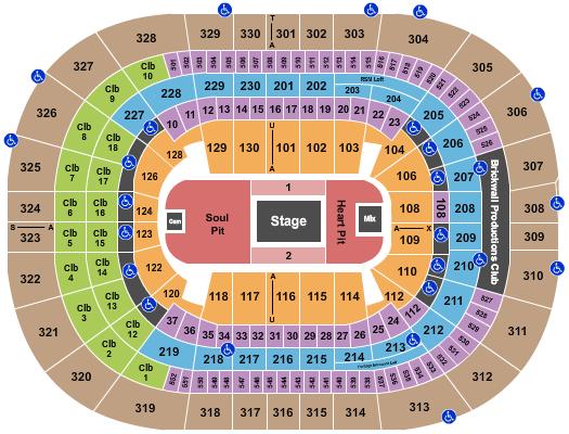 Amalie Arena Floor Plan