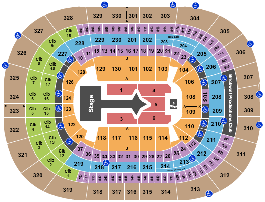 Amalie Arena (formerly Tampa Bay Times Forum) Seating Chart