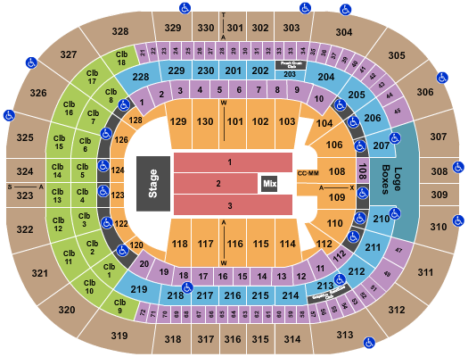 Trans-Siberian Orchestra Amalie Arena Seating Chart