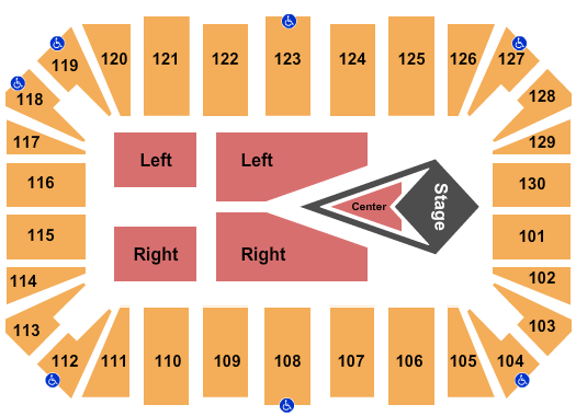 Amarillo Civic Center seating chart event tickets center