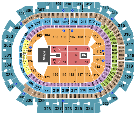 seating chart for American Airlines Center Kane Brown - eventticketscenter.com