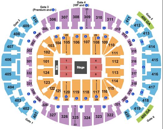 AmericanAirlines Arena Floor Plan