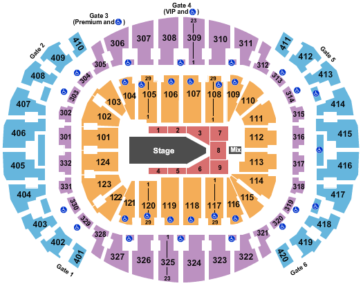 AmericanAirlines Arena Floor Plan