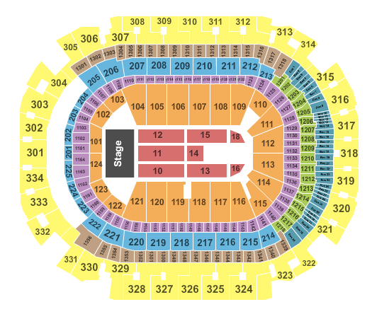 seating chart for American Airlines Center Andrea Bocelli - eventticketscenter.com