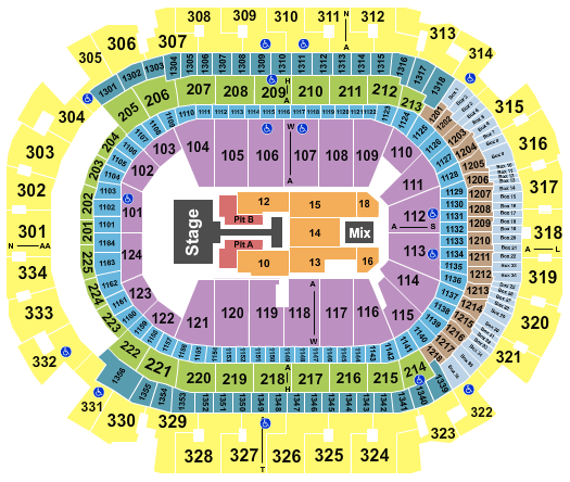 seating chart for American Airlines Center Chris Tomlin 2022 - eventticketscenter.com