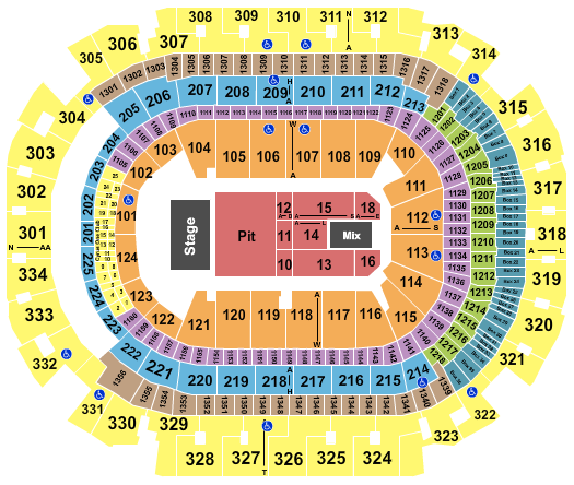 seating chart for American Airlines Center Dan And Shay - eventticketscenter.com