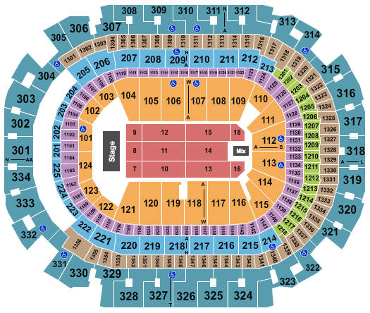 seating chart for American Airlines Center Donald Trump - eventticketscenter.com