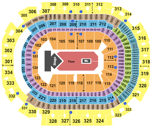 seating chart for American Airlines Center Dua Lipa - eventticketscenter.com