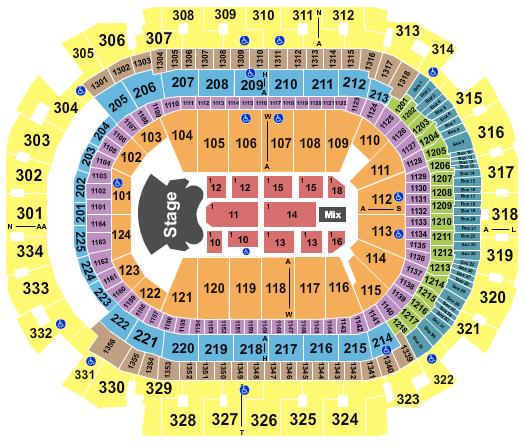 seating chart for American Airlines Center Elton John - eventticketscenter.com
