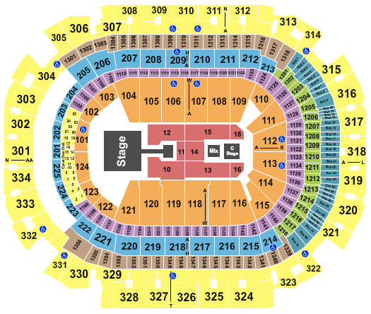 seating chart for American Airlines Center Enrique Iglesias - eventticketscenter.com