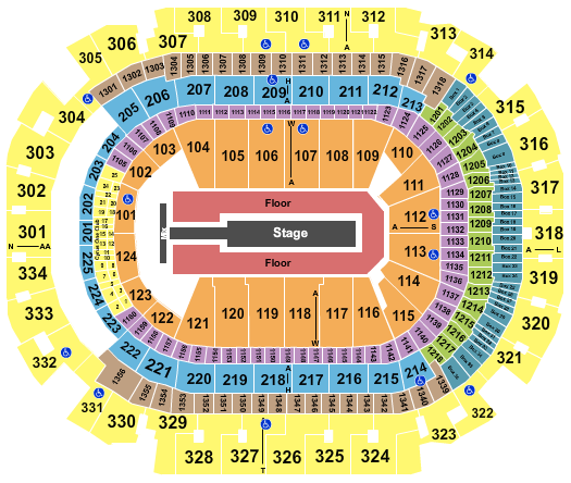 seating chart for American Airlines Center J Balvin - eventticketscenter.com