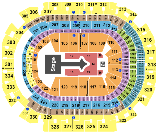 seating chart for American Airlines Center Justin Bieber - eventticketscenter.com