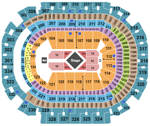American Airlines Center seating chart event tickets center