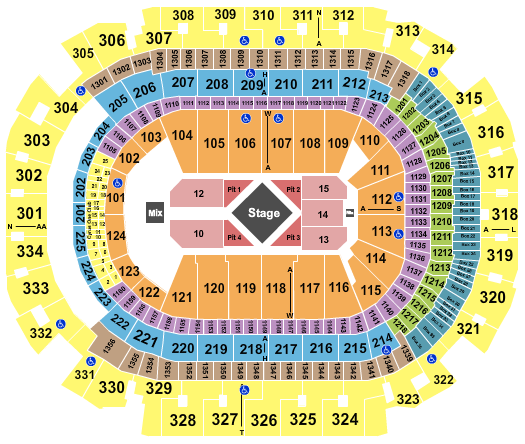 seating chart for American Airlines Center Luke Combs - eventticketscenter.com