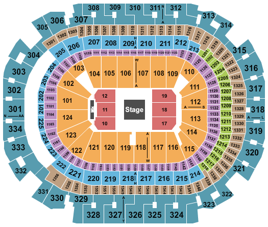 seating chart for American Airlines Center Maluma - 2 - eventticketscenter.com