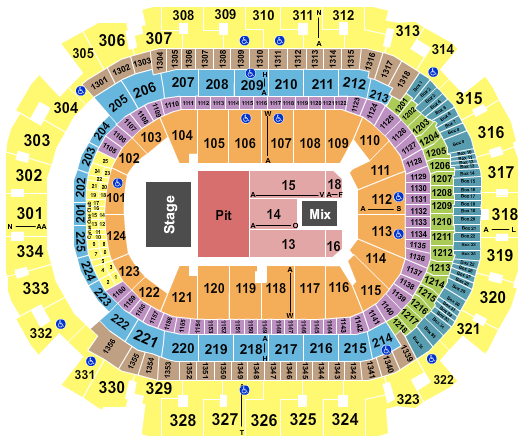 seating chart for American Airlines Center Miranda Lambert 2 - eventticketscenter.com