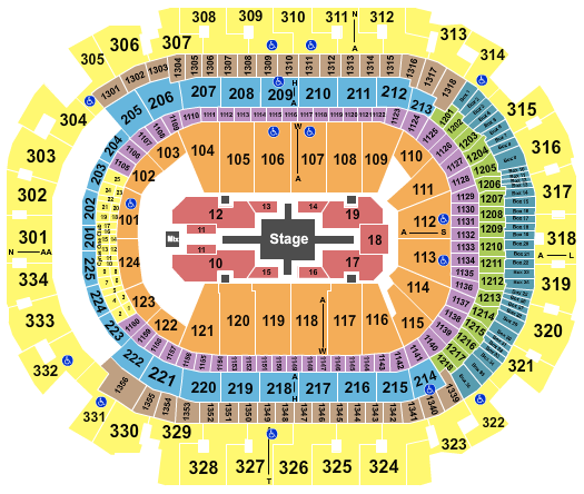 seating chart for American Airlines Center Roger Waters - eventticketscenter.com