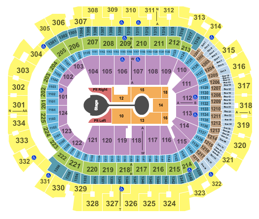 seating chart for American Airlines Center Shawn Mendes 2 - eventticketscenter.com