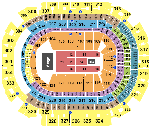 seating chart for American Airlines Center Sturgill Simpson - eventticketscenter.com