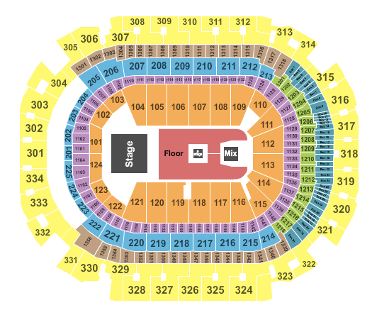 seating chart for American Airlines Center Swedish House Mafia - eventticketscenter.com