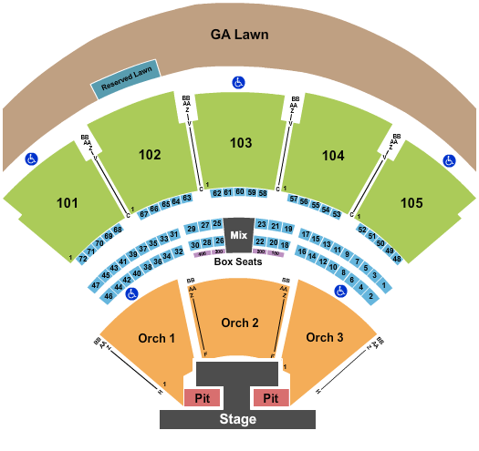 Ameris Bank Amphitheatre Rascal Flatts seating chart - eventticketscenter.com