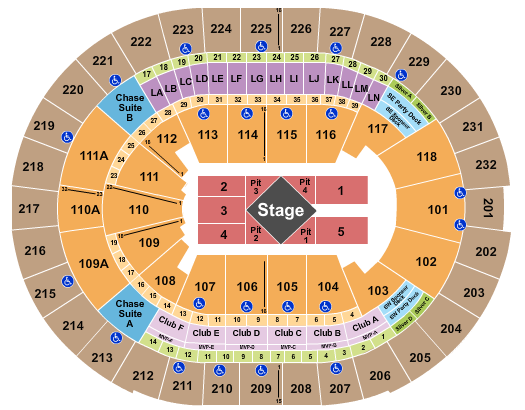 Amway Center seating chart event tickets center