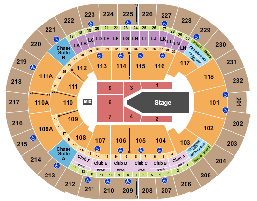 Amway Center Floor Plan