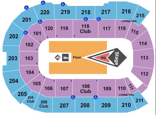 Angel of the Winds Arena Floor Plan