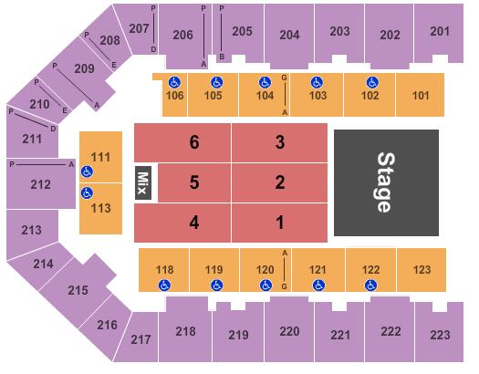 Appalachian Wireless Arena Floor Plan